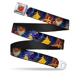 Disney Designer Seatbelt Belt - Beauty and the Beast - Ballroom Scene