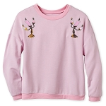 Disney Women's Shirt - Lumiere Sequined Long Sleeve Pullover