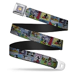 Disney Designer Seatbelt Belt - Mickey and Minnie Comic Strip
