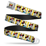 Disney Designer Seatbelt Belt - Classic Minnie Mouse Poses