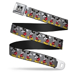 Disney Designer Seatbelt Belt - Classic Mickey - Wearing Glasses