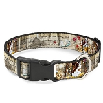 Disney Designer Breakaway Pet Collar - Belle - Beauty and the Beast - Sketch Story Script