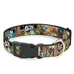 Disney Designer Breakaway Pet Collar - Mickey and Minnie Mouse - Croissant de Triomphe Scenes