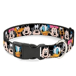 Disney Designer Breakaway Pet Collar - Mickey and Friends - Classic Character Faces