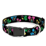 Disney Designer Breakaway Pet Collar - Neon Mickey Mouse Expressions