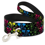 Disney Designer Pet Leash - Neon Mickey - Paint Splatter