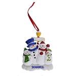 SeaWorld Ornament - Snowman with Glitter - Four