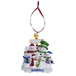 SeaWorld Ornament - Snowman with Glitter - Six