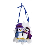 SeaWorld Ornament - Penguin with Glitter - Two
