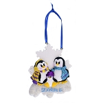 SeaWorld Ornament - Penguin with Glitter - Three