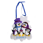 SeaWorld Ornament - Penguin with Glitter - Five