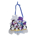 SeaWorld Ornament - Penguin with Glitter - Six