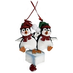 SeaWorld Ornament - Penguin On Ice - Two