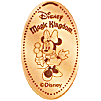 Disney Pressed Penny - Minnie with Ice Cream Cone