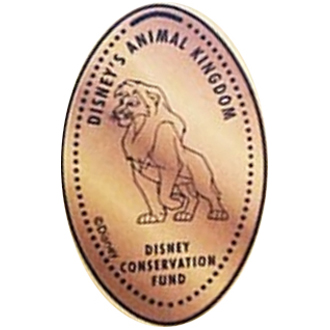 Disney Pressed Penny - Simba - Disney Conservation Fund
