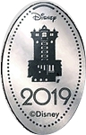 Disney Pressed Quarter - 2019 Hollywood Tower Hotel