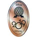 Disney Pressed Penny - 2019 Spaceship Earth