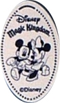 Disney Pressed Penny - Mickey and Minnie - Magic Kingdom