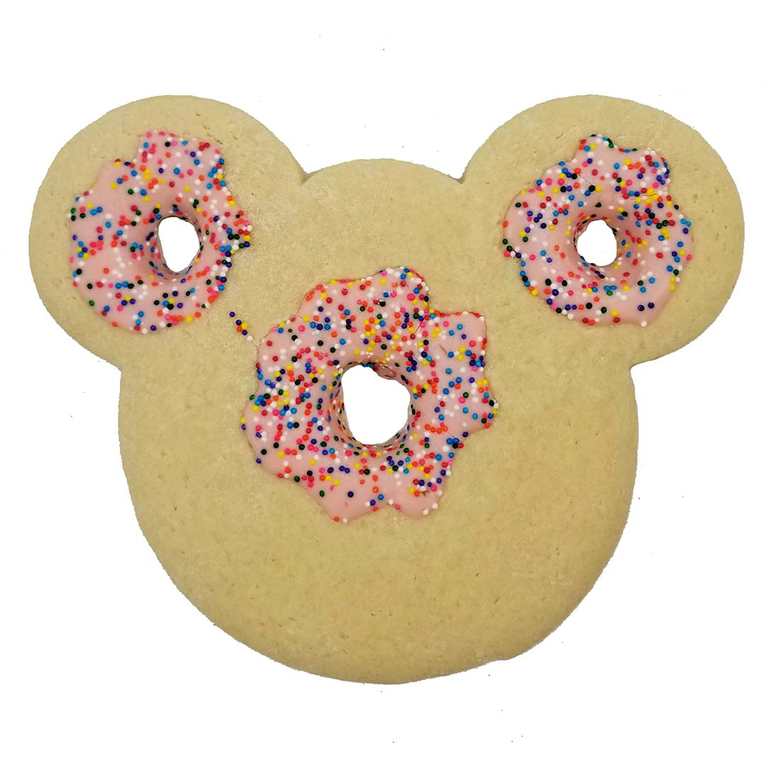 Disney Cookie - Mickey Icon Frosted Donut with Sprinkles