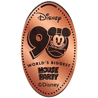 Disney Pressed Penny - 90 Mickey Face - Mouse Party