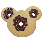 Disney Cookie - Mickey Icon Chocolate Donut with Sprinkles