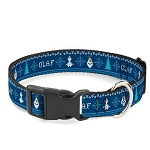 Disney Designer Breakaway Pet Collar - Olaf - Winter Snowflakes