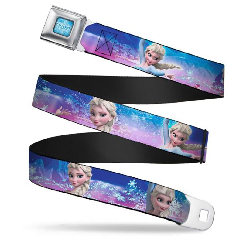Disney Designer Seatbelt Belt - Frozen - Elsa the Snow Queen - Blue / Pink Fade