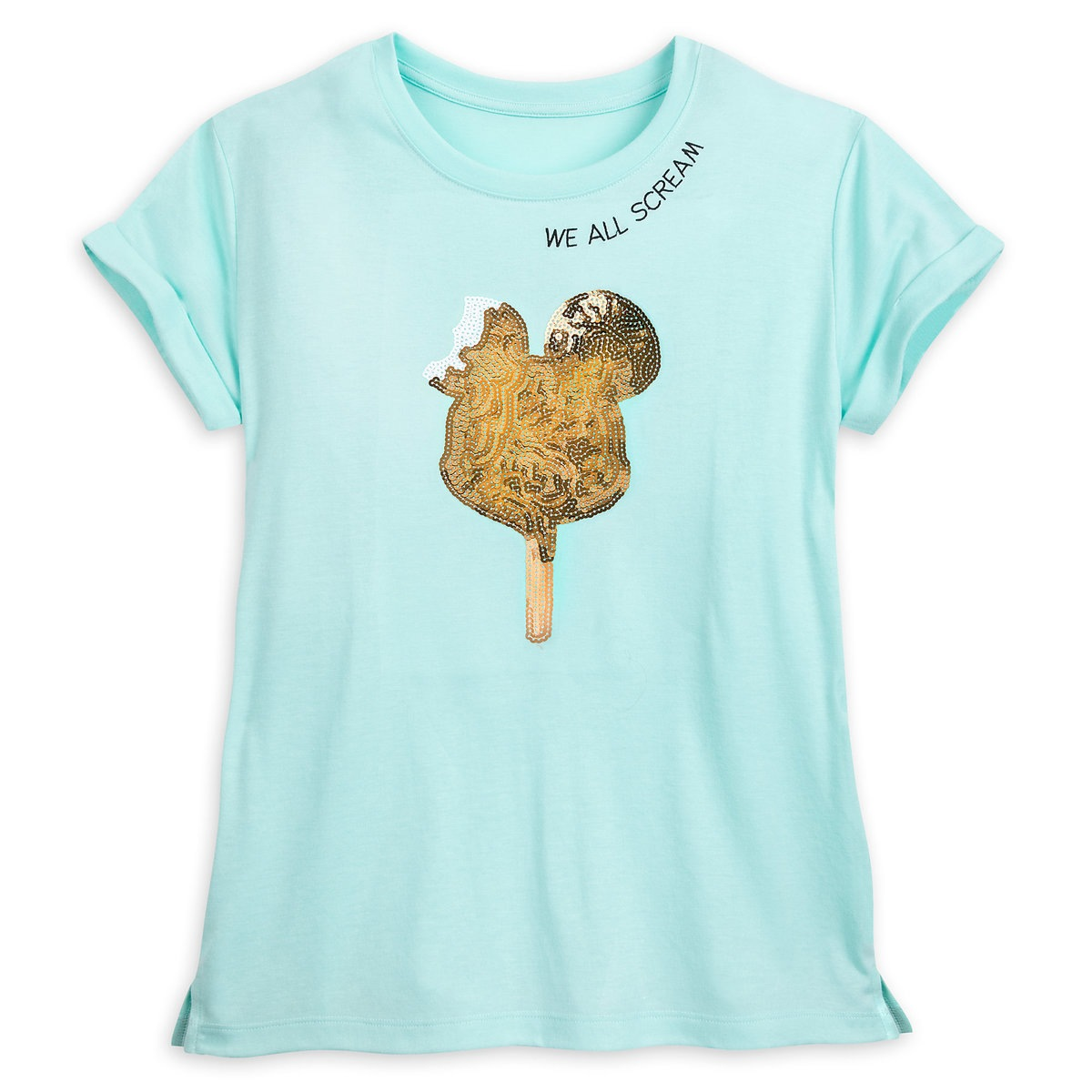 Disney Women's Shirt - Mickey Sequin Ice Cream Bar T-Shirt