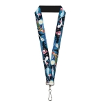 Disney Designer Lanyard - Peter Pan Flying w/ Wendy, Michael & John Darling