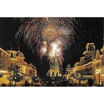 Disney Postcard - Magic Kingdom Mainstreet Fireworks