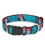Disney Designer Breakaway Pet Collar - Ariel - The Little Mermaid - Poses w/ Castle Underwater