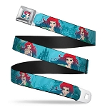 Disney Designer Seatbelt Belt - Ariel - The Little Mermaid - Poses w/ Castle Underwater
