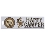 Disney Window Decal - Fort Wilderness Campground - Happy Camper