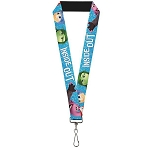 Disney Designer Lanyard - Inside Out Characters - Sparkle Blue