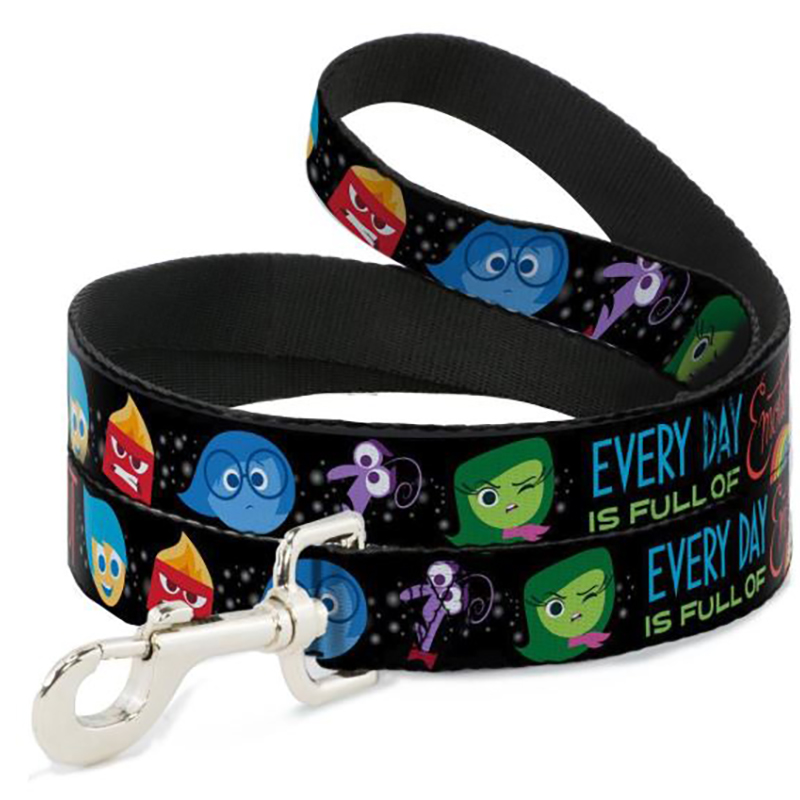 Disney Designer Pet Leash - Inside Out - Character Expressions - Every Day is Full of Emotions