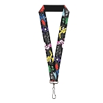 Disney Designer Lanyard - Big Hero Six - Character Action Poses - Name Blocks