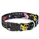 Disney Designer Breakaway Pet Collar - Big Hero Six - Character Action Poses - Name Blocks