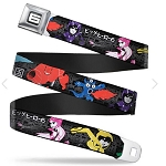 Disney Designer Seatbelt Belt - Big Hero Six - Character Action Poses - Name Blocks