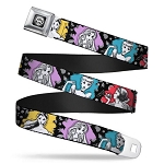 Disney Designer Seatbelt Belt - Cinderella Snow White Belle & Ariel w/ Color Splashes