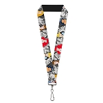 Disney Designer Lanyard - Princesses & their Princes - B&W Scenes