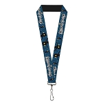 Disney Designer Lanyard - Kingdom Hearts Logo - Shadow Poses
