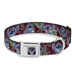 Disney Designer Pet Collar - Stitch w/ Frog - Tropical Print