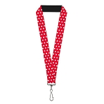 Disney Designer Lanyard - Minnie Mouse Icons - Polka Dots