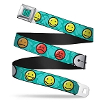 Disney Designer Seatbelt Belt - Big Hero Six - Baymax - Mood Expressions / Emojis