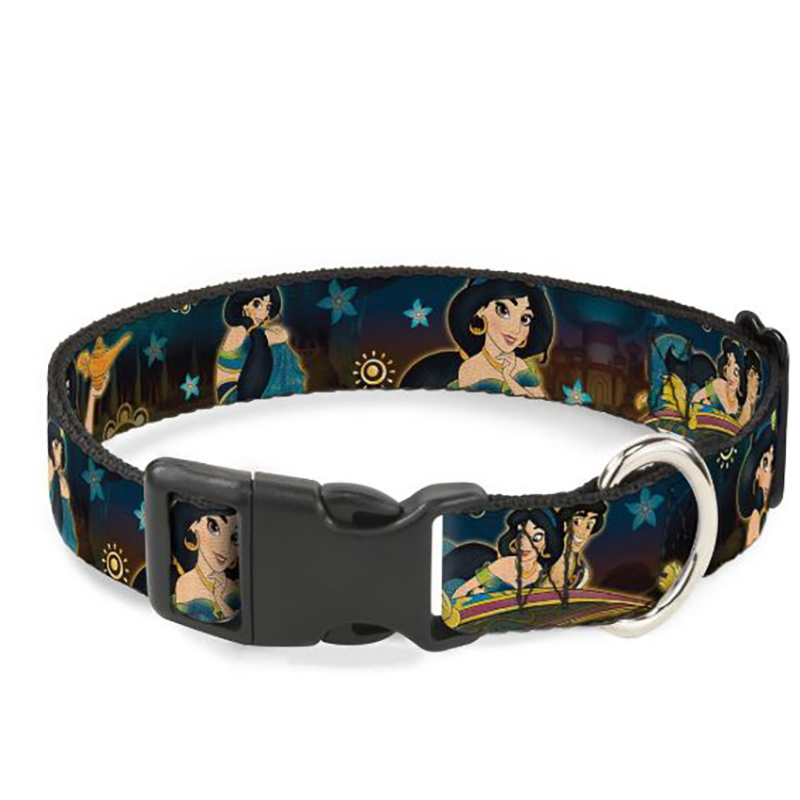 Disney Designer Breakaway Pet Collar - Jasmine & Aladdin - Carpet Ride