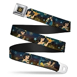 Disney Designer Seatbelt Belt - Jasmine & Aladdin - Carpet Ride