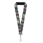 Disney Designer Lanyard - Nightmare Before Christmas Characters in Cemetery