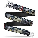 Disney Designer Seatbelt Belt - Nightmare Before Christmas Characters in Cemetery