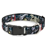 Disney Designer Breakaway Pet Collar - Nightmare Before Christmas Characters in Cemetery