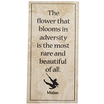 Disney Art - Mulan Quote Tile with Display Stand